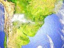 Pampa sur le modèle réaliste de la terre Photos libres de droits