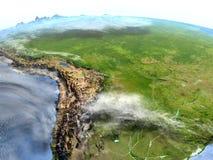 Pampa sur terre de planète Photographie stock