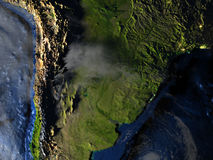 Pampa sur terre - fond océanique évident Photos libres de droits