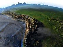 Pampa sur terre - fond océanique évident Photos stock