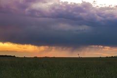 Pampas storm landscape stock photography
