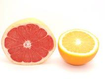 Pampelmuse und Orange Stockbilder