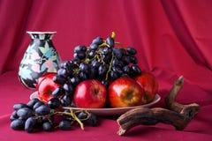 Pampelmusen und Äpfel lizenzfreies stockbild