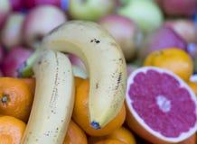 Pampelmusentangerine und -banane lizenzfreie stockfotos