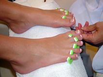 Pamper. Pedicure stock image