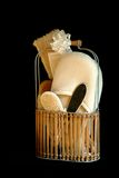 Pampered Gift. Basket filled with various sponges and tension relief objects Stock Images