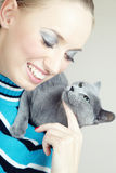 Pampering cat Royalty Free Stock Photos
