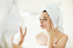 Pampering cream Stock Images