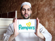 Pampers diapers manufacturer logo Royalty Free Stock Image