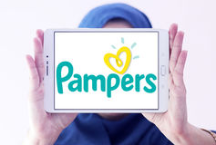 Pampers diapers manufacturer logo Stock Photography