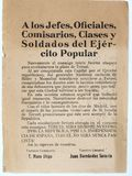 Pamphlet and Appeal to Republican officers and soldiers. Spanish civil war. stock images