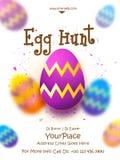 Pamphlet, Banner or Flyer for Easter Egg Hunt. Stock Photography