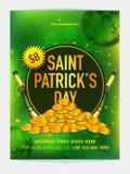 Pamphlet, Banner or Flyer for Patrick's Day Celebration. Stock Images