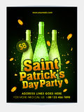 Pamphlet, Banner or Flyer for Patrick's Day Celebration. Royalty Free Stock Photo
