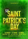 Pamphlet, Banner or Flyer for Patrick's Day Celebration. Royalty Free Stock Photography