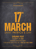 Pamphlet, Banner or Flyer for Patrick's Day concept. Stock Photo