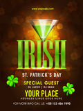 Pamphlet, Banner or Flyer for Patrick's Day concept. Stock Photography