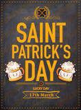 Pamphlet, Banner or Flyer for Patrick's Day. Stock Photography