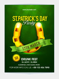 Pamphlet, Banner or Flyer for Patrick's Day. Stock Image