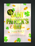 Pamphlet, Banner or Flyer for Patrick's Day Party. Stock Image