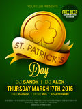 Pamphlet, Banner or Flyer for St. Patrick's Day. Stock Image