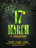 Pamphlet, Banner or Flyer for St. Patrick's Day. Royalty Free Stock Photo