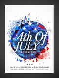 Pamphlet, Banner or Flyer for 4th of July. Stock Images
