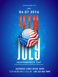 Pamphlet, Banner or Flyer for 4th of July. Royalty Free Stock Photos