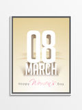 Pamphlet, Banner or Flyer for Women's Day. Stock Image