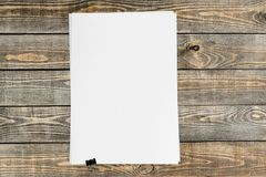 Pamphlet. Booklet blank dvd page form print stock photography
