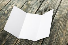 Pamphlet. Page print pad white layout letter head royalty free stock photo