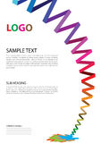 Pamphlet template. Modern template of pamphlet for corporate business vector illustration