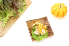 Pampkin and pamkin salad Royalty Free Stock Photos