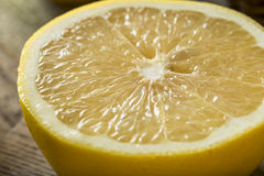 Pamplemousse blanc organique cru image stock