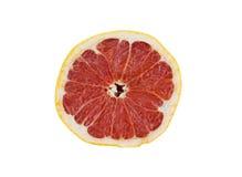Pamplemousse rouge coupé en tranches Photo libre de droits