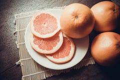 Pamplemousses : source de vitamine C Photographie stock