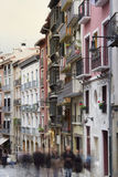 Pamplona Architecture - nice buildings near to city center, Spai Stock Image
