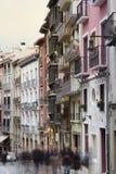 Pamplona Architecture - nice buildings near to city center, Spai Stock Image