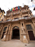 Pamplona city hall, Navarra, Spain Stock Photography