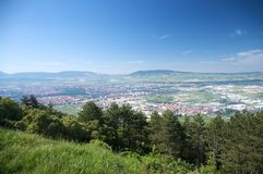 Pamplona city from the mountain Stock Images