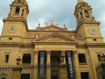 Pamplona domkyrka Catedral de Santa Maria la Real, domkyrkanolla royaltyfri bild
