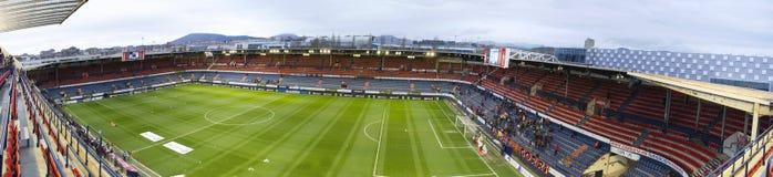 Stade de football Reyno de Navarra, Espagne Photographie stock libre de droits