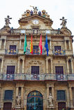 Pamplona Navarra Ayuntamiento city Hall square Royalty Free Stock Photo