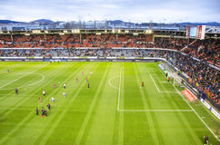 Estádio de futebol Reyno de Navarra, Spain Imagem de Stock Royalty Free