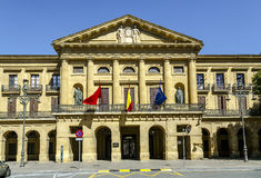 Pamplona Navarra government palace building Royalty Free Stock Images