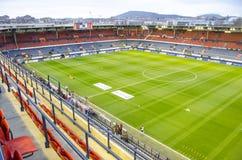 Fußballstadion Reyno de Navarra, Spanien Stockbild