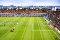 Fußballstadion Reyno de Navarra, Spanien Lizenzfreies Stockbild