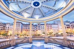 Pamplona Navarra - plaza del Castillo arkivfoto