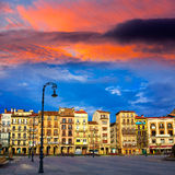 Pamplona Navarra Spain plaza del Castillo square Stock Photography
