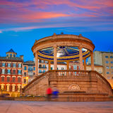 Pamplona Navarra Spain plaza del Castillo square Royalty Free Stock Photography
